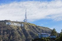 USA, California, Los Angeles, Hollywood Hill, Hollywood Sign on hill during daytime — Stock Photo