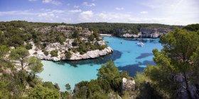Spagna, Isole Baleari, Minorca, Macarella, Cala Macarelleta durante il giorno — Foto stock