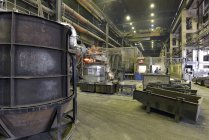 Melting furnace in a foundry indoors — Stock Photo