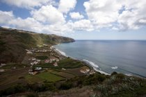 Portugal, Azores, Santa Maria, bay of Sao Lourenco under clouds — Stock Photo