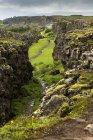 Исландия, вид на каньон Пингвеллир — стоковое фото