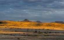 Africa, Namibia, Damaraland, sunset over landscape — Stock Photo