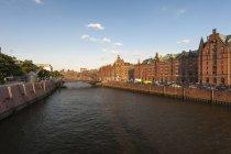Germany, Hamburg, Old Warehouse District, View of the Zollkanal — Stock Photo