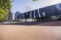 Spain, Barcelona, Telefonica building and Museu Blau during daytime — Stock Photo