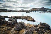 Vue de la station thermale de lagon bleu, Islande — Photo de stock