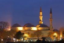 Туреччина, Едірне, стара мечеть вночі — стокове фото