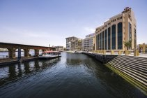 UAE, Dubai, RTA water taxi station at the creek  during daytime — Stock Photo
