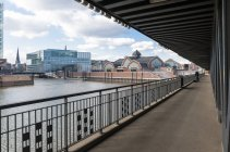 Germany, Hamburg, view to Deichtorhallen from Oberhafenbruecke — Stock Photo