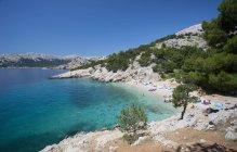 Хорватія, вид на пляж на острові Крк денний час — стокове фото