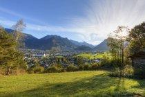 Вид з СТДО бік Блуденц та Клостерталь долині, Форарльберг, Австрія — стокове фото