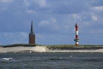 Germania, Bassa Sassonia, vista del Faro e la torre ovest — Foto stock