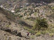 Europe, Spain, Mature woman hiking at Valle Gran Rey — Stock Photo