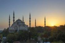 Moschea blu alla vista del tramonto, Istanbul, Turchia, Europa — Foto stock