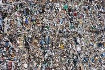 Vista della spazzatura compressa, cornice completa — Foto stock