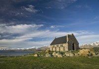 Nouvelle-Zelande, vue de l'église à Lake Tekapo — Photo de stock