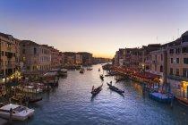 Italia, Venezia, Canal Grande al tramonto — Foto stock