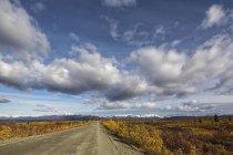 États-Unis, Alaska, Vue de l'autoroute Denali en automne — Photo de stock