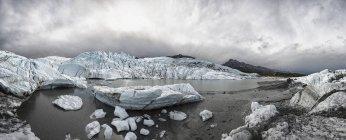 USA, Alaska, Veduta delle montagne di Chugach, della valle di Matanuska e del fiume Matanuska — Foto stock