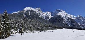 Австрия, Тироль, гор Карвендель в снегу — стоковое фото