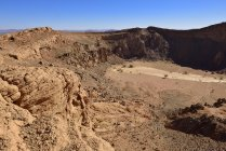 Algeria, View over volcanic landscape of upper Ouksem Crater at Menzaz — Stock Photo