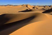 Vista panorámica del paisaje natural con dunas de arena del Sáhara desierto, Argelia, norte de África - foto de stock