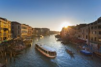 Italy, Venice, Grand Canal at sunset — Stock Photo