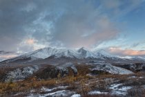 Canada, View of Dempster Highway and Ogilvie Mountains at Tombstone Territorial Park — Stock Photo