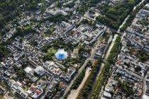 Europa, Alemania, Renania Palatinado, Vista de Bad Neuenahr Ahrweiler, jardines de spa y casino - foto de stock