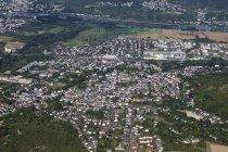 Europe, Germany, Rhineland Palatinate, View of city Sinzig and River Rhine — Stock Photo