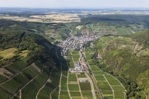 Europe, Germany, Rhineland Palatinate, View of vineyard at Dernau — Stock Photo