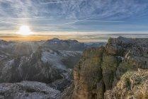 Italy, Veneto, Dolomites from Lagazuoi, Fanes-Sennes-Prags Nature Park — Stock Photo