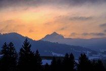 Германия, Бавария, Свабия, возле Вертах, Грюнтен, послесвечение — стоковое фото
