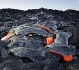 Hawái, Isla Grande, Parque Nacional Volcanes Hawai 'i, lava - foto de stock