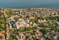 Турция, Стамбул, Воздушный вид на Святую Софию — стоковое фото
