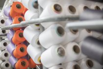 Different cotton reels, close up — Stock Photo