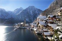 Австрия, Upper Austria, Fabmergut, Hallenbach, Lake Hallenge — стоковое фото