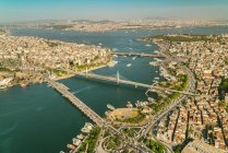Turkey, Istanbul, aerial view of city at daytime — Stock Photo