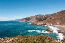 USA, California, Veduta della costa con spiaggia, Big Sur National Park — Foto stock