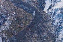 Suiza, Valais, Zermatt, Monte Rosa, macizo Monte Rosa, glaciar Gorner, cabaña Monte Rosa - foto de stock