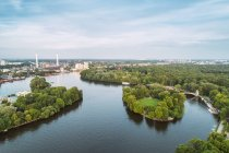 Germany, Berlin, aerial view of Treptow Park — Foto stock