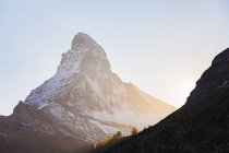 Швейцария, Вале, Мбаппе, Маттерхорн утром — стоковое фото
