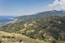 Greece, Peloponnese, Egira, Aigeira, landscape, coast — Stock Photo