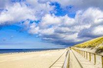 Німеччина, Шлезвіг-Гольштейн, Зільт, пляж Кампен в денний час — стокове фото