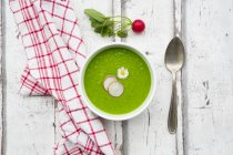 Organic radish green soup — Photo de stock