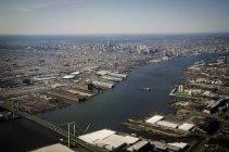 USA, Philadelphia, Delaware River, aerial view — Stock Photo
