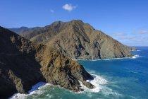 Spagna, Isole Canarie, La Gomera, Costa vicino a Vallehermoso, Vista da Punta de Sepultura — Foto stock