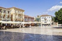 Greece, Peloponnese, Argolis, Nauplia, Old town, Syntagma square — Stock Photo