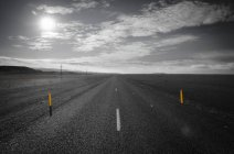 Iceland, South of Iceland, empty ring road — Stock Photo
