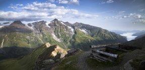 Autriche, État de Salzbourg, Vue d'Edelweissspitze à Grossglockner, Grosser Wiesbachhorn — Photo de stock