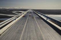 Islanda, tangenziale, ponte diurno — Foto stock